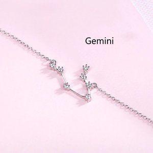 *NEW 925 Sterling Silver Zodiac Bracelet-Gemini